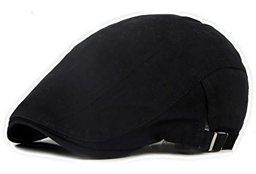 Qunson Herren Cotton Wohnung ivy Gatsby Ballon- Driving-Hut-Kappe Schwarz One Size (Fahr-hüte Für Männer)