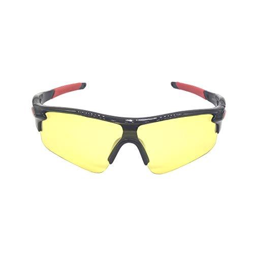 MINGZE Schutzbrille mit klaren, kratzfesten Wrap-Around-Gläsern gegen Beschlag und rutschfesten Griffen, UV-Schutz, Sonnenbrille zum Radfahren, Angeln, Golf