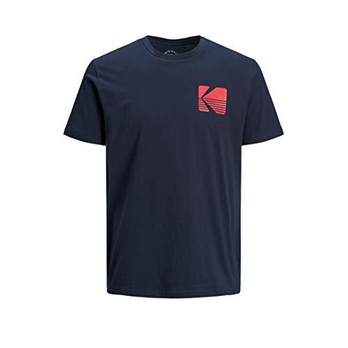 T-Shirt Jack & Jones Snap Uomo Blu girocollo Con Logo Kodak 12149092