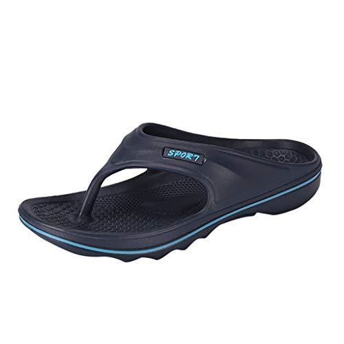Xmiral Infradito Pantofole Uomo Colore Puro Scarpe, Sandali, Ciabatta da Uomo 43 EU Blu