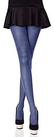Merry Style Blickdichte Damen Strumpfhose Microfaser 40 DEN (Jeans, 3 (36-40))