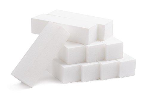 KM-Nails 10x weißer Buffer Made in Germany Top Qualitäts Produkt - Buffer Nagelfeile