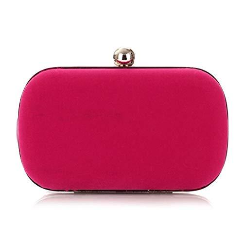 Chengduaijoer Damen Abend Handtasche Tasche Flanell Mode Handtasche (Color : Rose red)