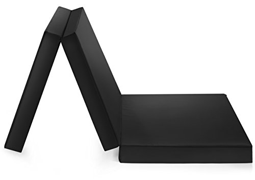 *Badenia Gästematratze, 3-teilige Klappmatratze, 190 x 60 cm, schwarz*