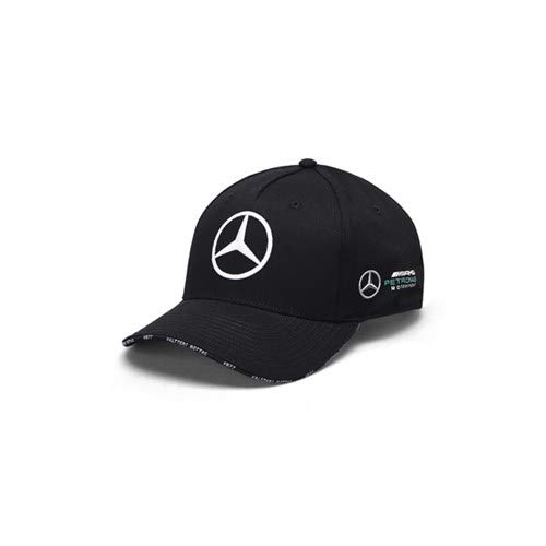 Mercedes AMG Petronas F1 Driver Valtteri Bottas Gorra Negro Oficial 2019