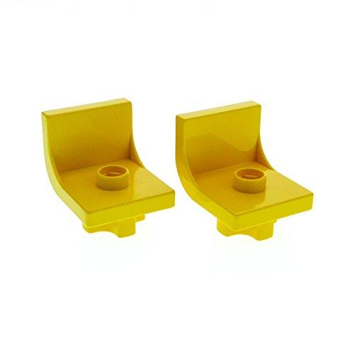 2 x Lego Duplo Stuhl gelb 1 Noppe Sitz Stühle Küche Wohnzimmer Schlafzimmer Puppenhaus Möbel Set 2698 2658 4839 (Gelbe Wohnzimmer Möbel)