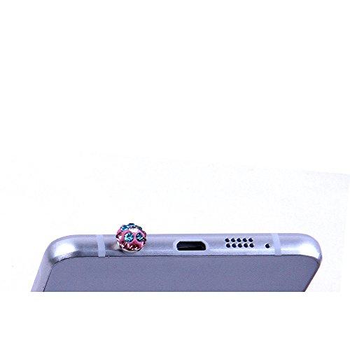 "Samsung Galaxy S6 / S6 Duos Hülle, Alfort 3 in 1 3D Handyhülle Schutzhülle PC Hart Case Cover Telefon Kasten für Samsung Galaxy S6 / S6 Duos 5.1"" Smartphone mit Rosa Welle ( Farbe ) + Netter Kristall  Wind Glocke"