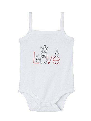 VERTBAUDET Lote de 5 bodies para bebé niña con estampado y tirantes finos Blanco Claro Estampado 12M - 74CM