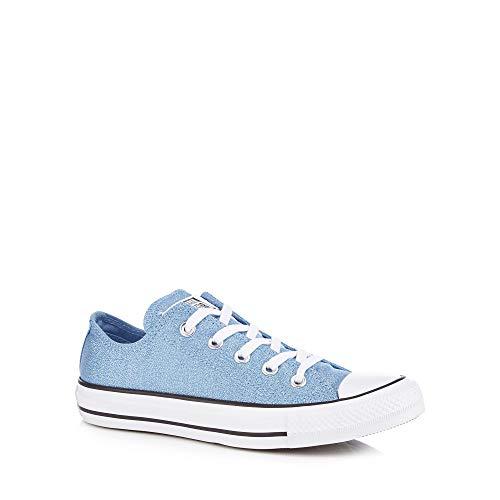 Converse Womens Light Blue Glitter Canvas