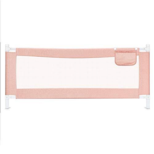 Barrières MAHZONG de Protection Enfants Maison incassable lit Universel détachable-150cm, 180cm, 200cm (Couleur : Pink, Taille : L-200cm)