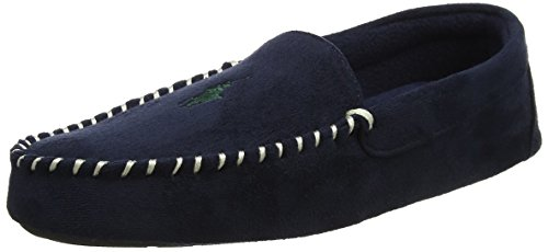 Polo Ralph Lauren Herren Men'S Dezi Ii Sneaker Low-Tops, Lewd (Navy Microsuede W/Green Pp), 43 EU