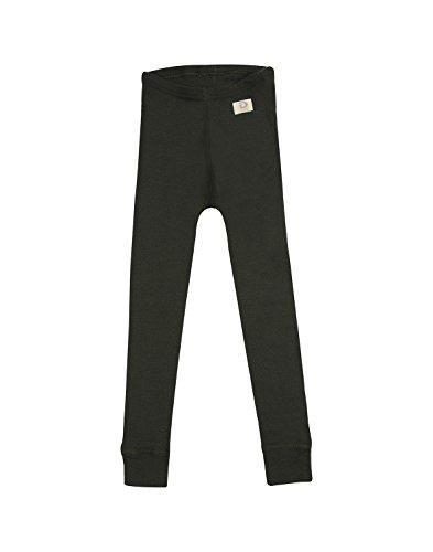 Dilling Merino Leggings für Kinder - Unterhose aus Bio Wolle Dunkelgrün 122/128