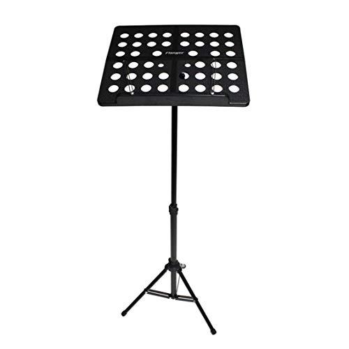 Flanger FL-05R Aluminiumlegierung Klapp Notenständer Stativhalter Musikinstrument mit Tragetasche - Schwarz