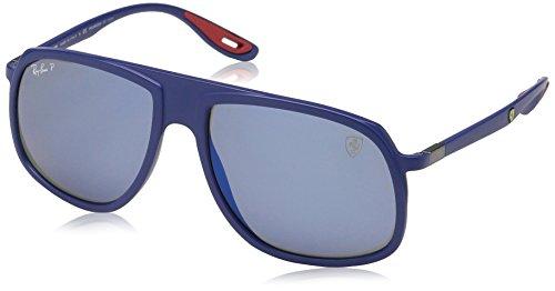 Ray-Ban Junior Herren 0RB4308M F604H0 58 Sonnenbrille, Matte Dark Blue/Greybluepolar