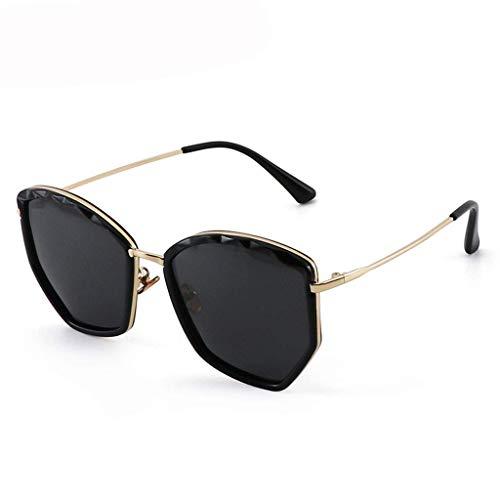 DX Neue polarisierte Unisex-Sonnenbrille mit großem Rahmen und rundem Gesicht