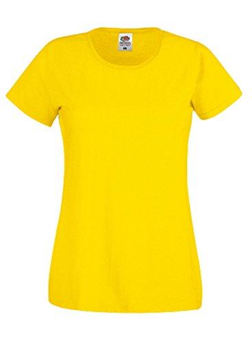 Fruit of the Loom - T-shirt - Femme Jaune - Jaune