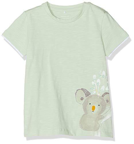 NAME IT Baby-Jungen Nbmhero Ss Top T-Shirt, Grün (Spray), (Herstellergröße: 68) -