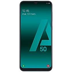 SAMSUNG Galaxy A50 - Smartphone Portable débloqué 4G (Ecran: 6,4 Pouces - 128 Go - Double Nano-SIM - Android) - Blanc - Version Européenne