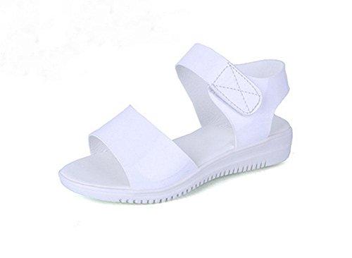 Student flache Schuhe mit flachen Sandalen weibliche wilden White