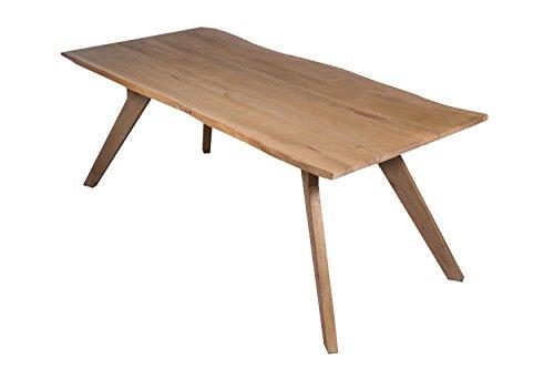 SAM Stilvoller Baumkanten-Tisch Live Edge, 200 x 90 cm, aus Akazie, massiver Esszimmertisch, Unikat