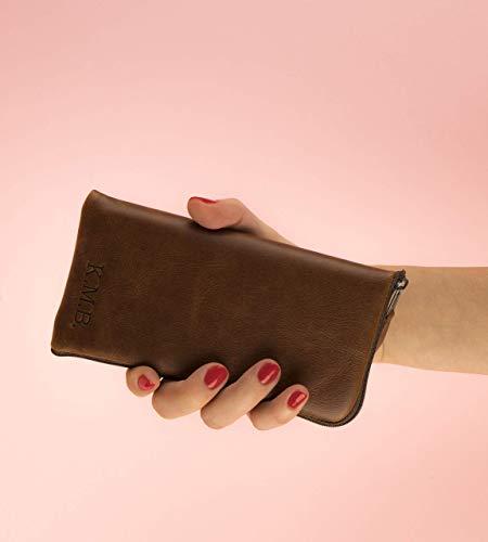 Italienisches Leder Tasche für BlackBerry (verschiedene Modelle) Etui mit Reißverschluss und Gravur