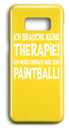 shirt-o-magic Handyhülle Paintball Softair: Therapie? Lieber Paintball! - Case -Samsung S7-Gelb