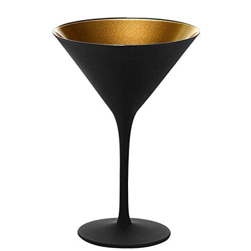 Cocktailglas Olympic - Schwarz / Gold matt - 6 Stück (Schwarz Gläser Und Gold)