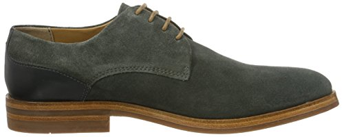 Hudson London Herren Enrico Suede Oxfords Grau (Charcoal)