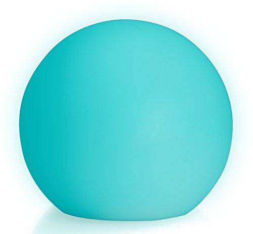 LED Boule Sphère lumineuse Ø 20 cm multicolore RGB 16 couleurs sans câble avec accumulateur et télécommande Etanche et flottant IP65 Extérieur Guirlande lampe mood ball decoration Luminaire Design