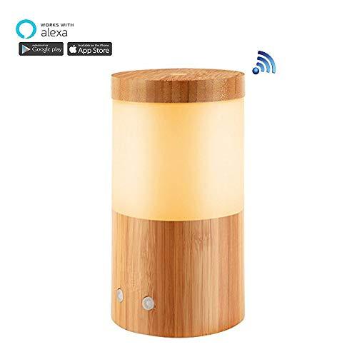 Smart Wifi Umidificatore Aroma Diffusore Glass Electric SPA Umidificatore Supporto Google Alexa con luce RGB, i migliori regali per mamma