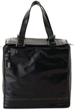 Mandarina Duck - Bolso cruzados de cuero para mujer negro Schwarz / Black 30x29x22 cm (BxHxT)