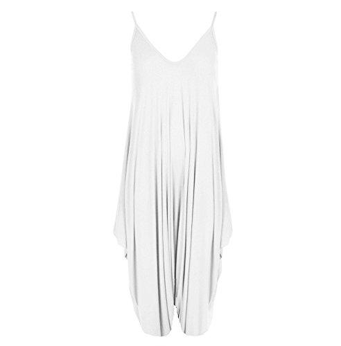 Janisramone - Combinaison - Combinaison - Uni - Sans Manche - Femme * taille unique Blanc