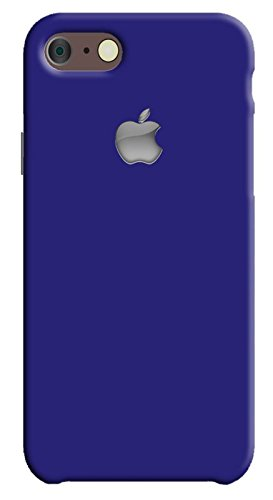 Back cover for Apple iPhone 7 | Designer case |Plain simple dark Blue color with apple logo iPhone 7 case| 3D Premium quality Single color, Matte Finish,Poly-Carbonate hard plastic)