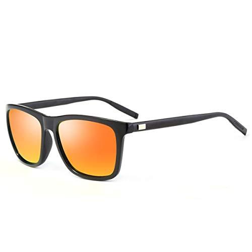ZTMN Sonnenbrille polarisierte Sonnenbrille Brille fahrbrille Sonnenbrille männer und Frauen das gleiche Quadrat (Farbe: orange)