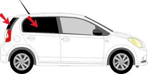 Vitres teintées SANS FILM SEAT Mii 5 portes après 2012 Art. 26460-3 Solarplexius