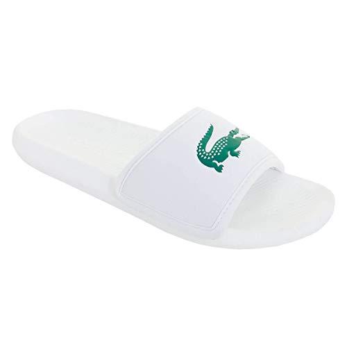 Lacoste Herren Croco Slide 119 3 CMA Flip Flops - Weiß/Grün - UK 7
