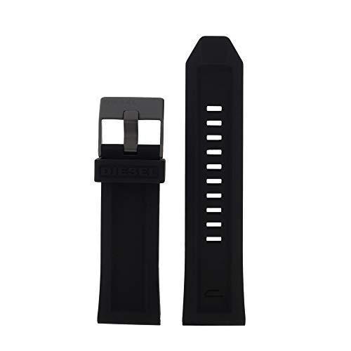 Original Uhrenarmband 26mm Kautschuck Schwarz Uhrband für Diesel DZ-4378 / LB-DZ4378
