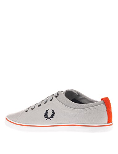 Fred Perry Hallam Twill Charcoal B8272491, Baskets Mode Homme gris clair