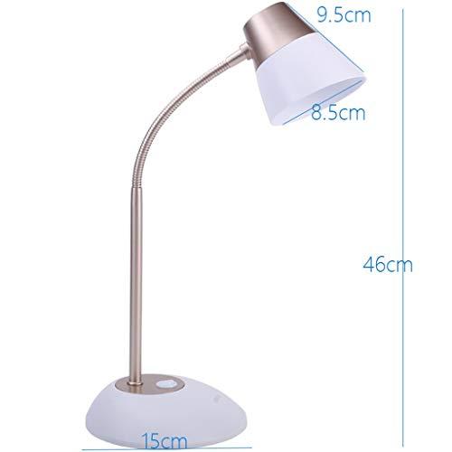 WHKFD Brillen zum Lesen des nassen Lichts High-End-LED-Licht, energiesparendes nasses Licht, Büro, Schlafsaal, Weiß,Gold-1