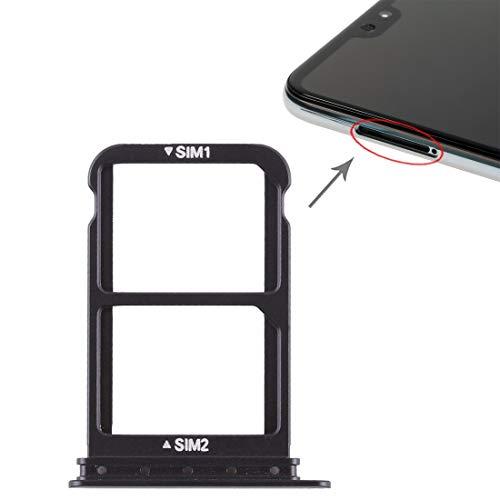 Phone Replacement Parts Handy-Ersatzteile, Sim-Kartenfach + Sim-Kartenfach für Huawei P20 Pro (Farbe : Schwarz)