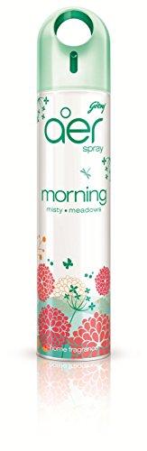 Aer Godrej Home Air Freshener Spray - 300 Ml (Pack Of 2 - Morning Misty Meadows)