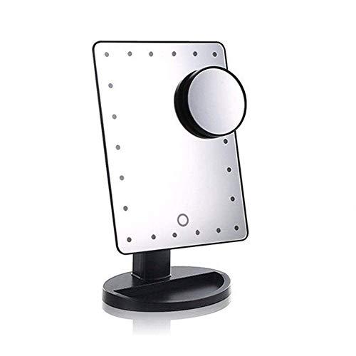 Haut Pflege Werkzeuge Einstellbare 22 Leds Beleuchteten Make-up Spiegel Touch Screen Tragbare Vergrößerungs Eitelkeit Tabletop Lampe Kosmetik Spiegel Make Up Tool Seien Sie Freundlich Im Gebrauch