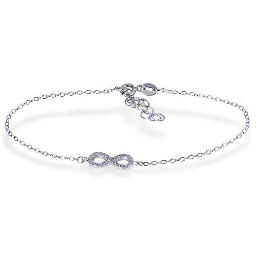 Goldmaid Damen-Armband Infinity 925 Sterlingsilber 24 weiße Zirkonia