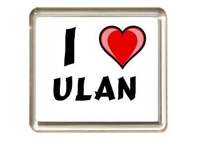 Ich liebe Ulan Kühlschrankmagnet (Vorname/Zuname/Spitzname)