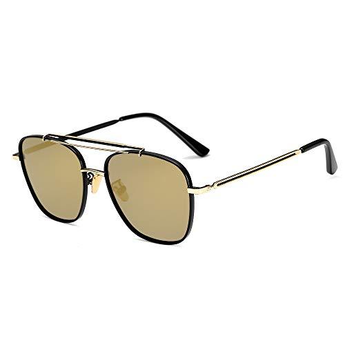 Yiph-Sunglass Sonnenbrillen Mode Männer polarisierten Sonnenbrillen Farbfilm Boxen Fahren Sonnenbrillen Trending Blue Retro Brille. (Color : 3)