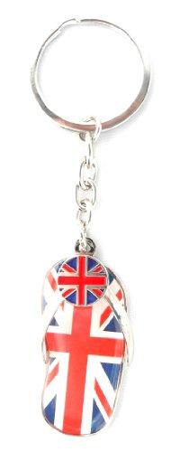 J'aime le Souvenir de Londres / I Love London FORCEE Union Jack / FLIP FLOP / souvenirs souvenirs de THONG LONDON UNION JACK KEYRING SILVER JUBILEE - j'aime Londres Keychain - porte-clés Souvenir de Londres
