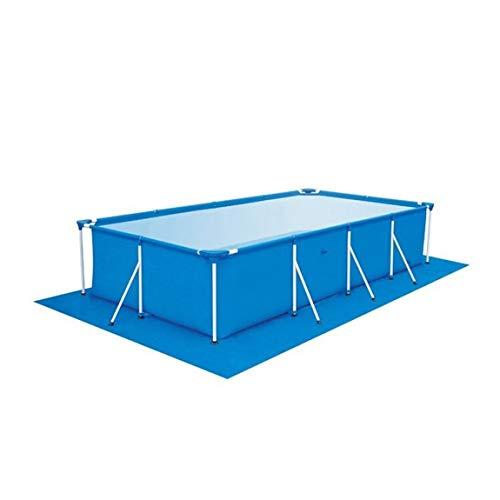 73JohnPol Große Größe Schwimmbad Runde Boden Tuch Lippe Abdeckung Staubdicht Boden Tuch Matte Abdeckung für Outdoor Villa Garten Pool (Farbe: blau) (größe: 445x254 cm) (Pool-abdeckung, Lagerung)