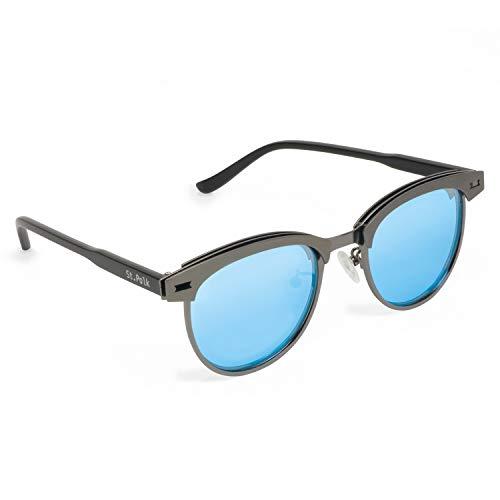 0490ac8139 Gafas de sol de hombre/mujer polarizadas unisex efecto espejo lentes  redondas ligeras muy resistentes