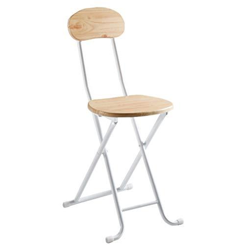 Sedie pieghevoli semplice sedia pieghevole sedia portatile da casa sgabello dormitorio mini sedia panchina sgabello pieghevole (colore : colore del legno)