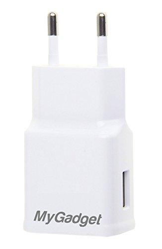 MyGadget Universal Netzteil - USB Adapter (5V / 2A) - Ladestecker Ladeadapter Ladegerät für Apple iPad, iPhone, Samsung, Tablet usw. in Weiss